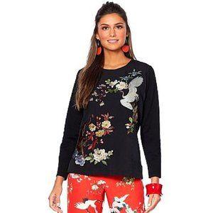 Rara Avis Iris Top Asian Chinese Sweatshirt Blouse